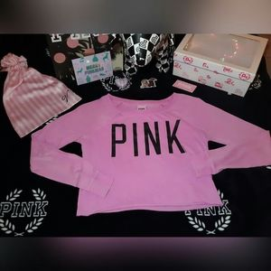 Victoria secret PINK long sleeve crop top